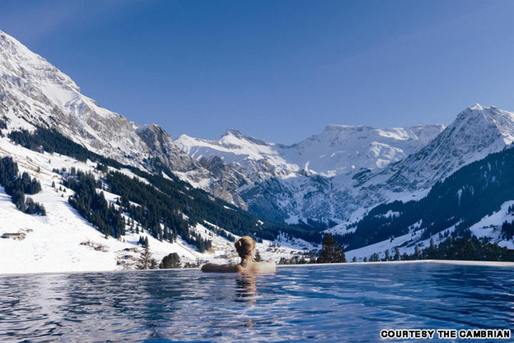 35 Epic Swimming Pools From Around the World - The Cambrian in Switzerland.