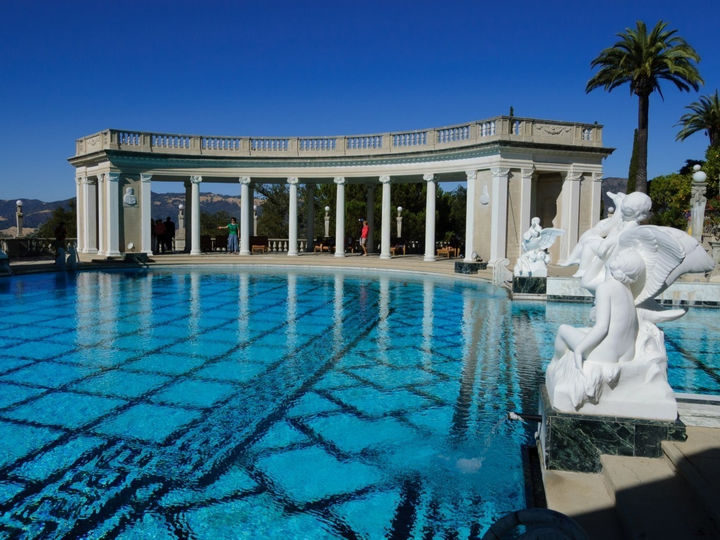 35 Epic Swimming Pools From Around the World - Hearst Castle in San Simeon, California.