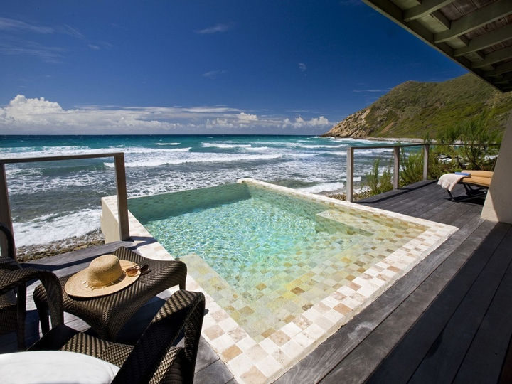 35 Epic Swimming Pools From Around the World - Biras Creek hotel on Virgin Gorda in the British Virgin Islands.