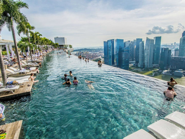35 Epic Swimming Pools From Around the World - The Marina Bay Sands Hotel in Singapore