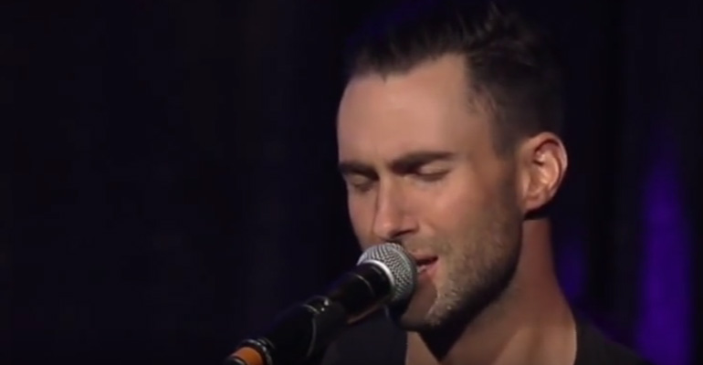 Adam Levine Performs Emotional Purple Rain Cover.