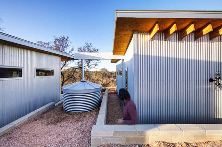 The galvanized steel helps reflect the sun's rays and keep the homes cool during the summer. The homes are also well-insulated for the winter months.