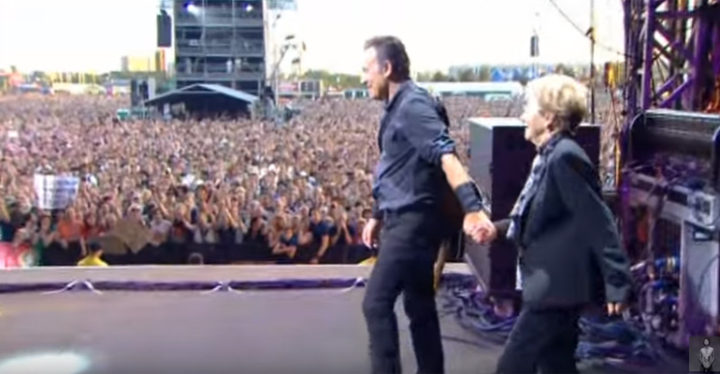 Bruce Springsteen Dances with His Mother On Stage.
