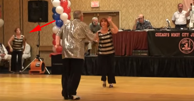 A Couple Is Dancing but Then Another Woman Cuts in and Joins Them. I Can't Stop Watching!