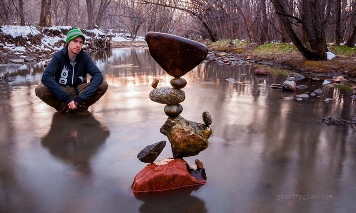 Michael Grab decided to try balancing rocks while exploring one day and it quickly turned into a passion.