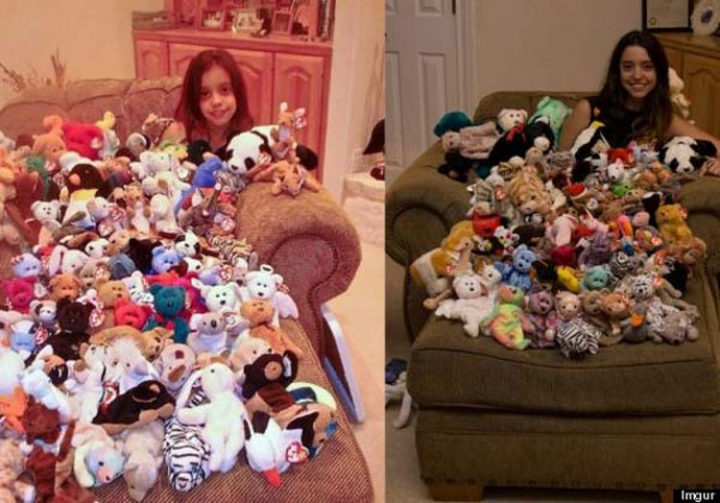 11 Then and Now Photos - Still a fan of Beanie Babies after all these years.