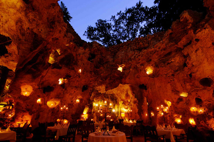 39 Amazing Restaurants With a View - Ali Barbour's Cave Restaurant in Diani Beach, Kenya.