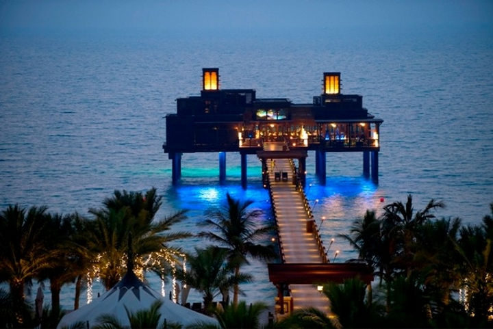 39 Amazing Restaurants With a View - Pierchic in Dubai, United Arab Emirates.