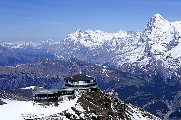 39 Amazing Restaurants With a View - Piz Gloria in Mürren, Switzerland.