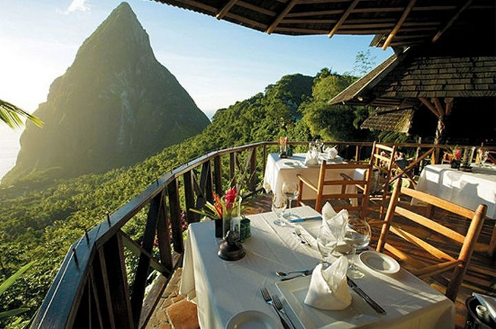 39 Amazing Restaurants With a View - Dasheene in St. Lucia, West Indies.