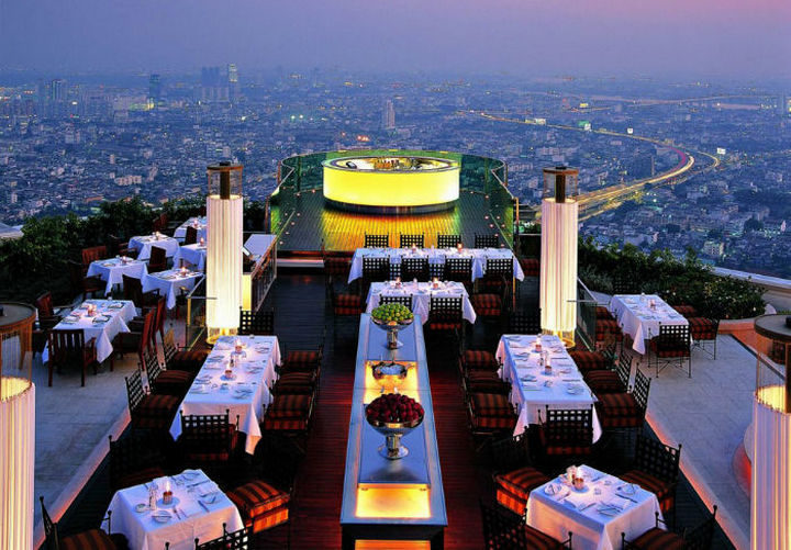 39 Amazing Restaurants With a View - Sirocco in Bangkok, Thailand.