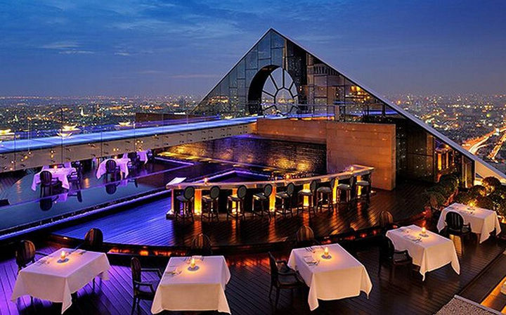 39 Amazing Restaurants With a View - Breeze Restaurant in Bangkok, Thailand.