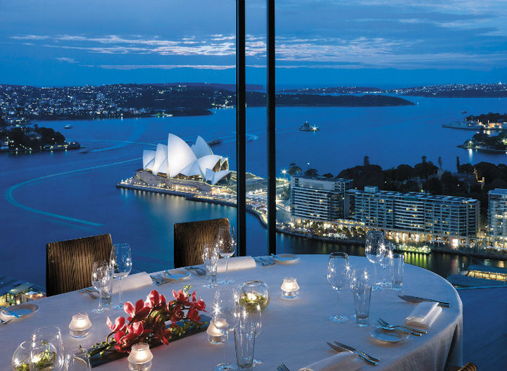 39 Amazing Restaurants With a View - Altitude Restaurant at Shangri-La in Sydney, Australia.