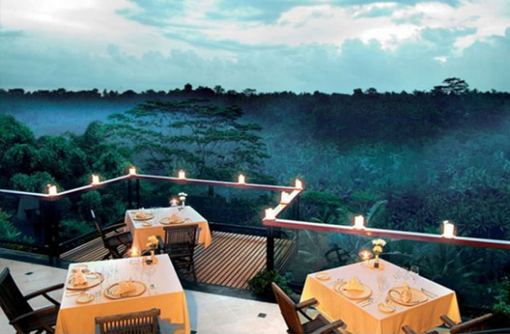 39 Amazing Restaurants With a View - La View in Ubud, Bali.
