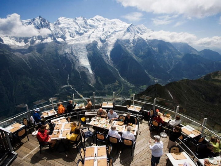 39 Amazing Restaurants With a View - Le Panoramic in Chamonix, France.