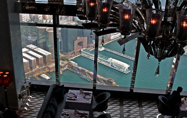 39 Amazing Restaurants With a View - Tosca in Kowloon, Hong Kong.