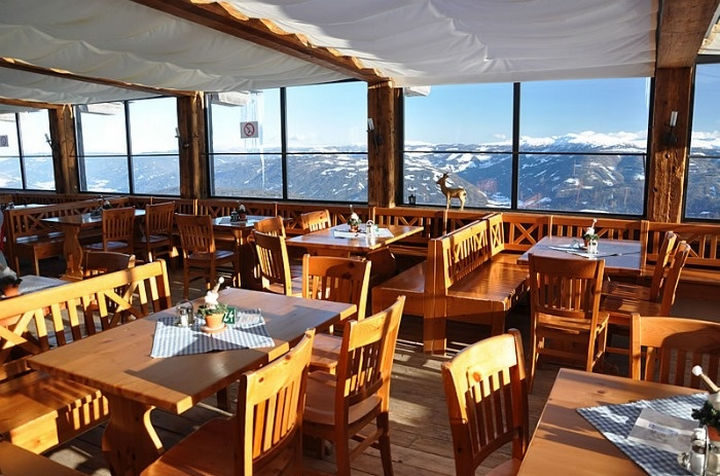 39 Amazing Restaurants With a View - Panorama Alm in Mauterndorf, Austria.