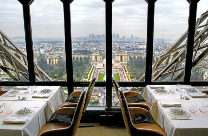 39 Amazing Restaurants With a View - Le Jules Verne in Paris, France.