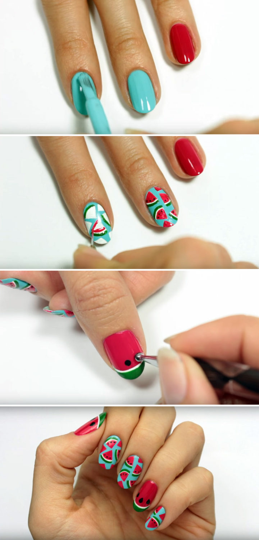 How to Create Cute Watermelon Nails This Summer!