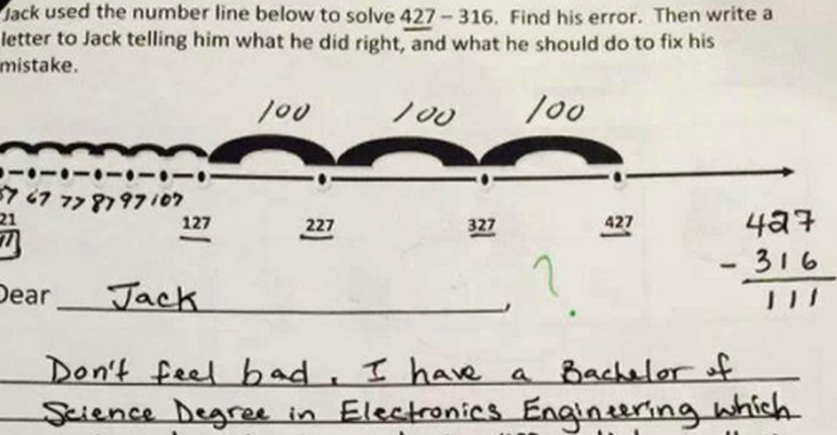 Frustrated Parent Writes Letter to Math Teacher.