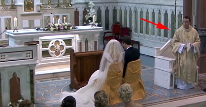 Father Ray Kelly Sings Hallelujah At Couples Wedding