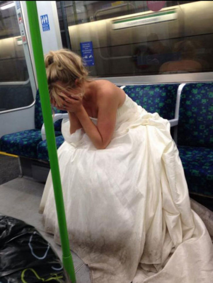 28 People Having a Bad Day - This has to be the worst way for a wedding day to end.