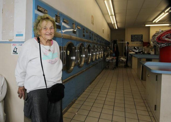 That friend was Mimi Haist who is now 88-years-old and she lived on tips when she volunteered at the laundromat. She has known Zach for over 20 years.