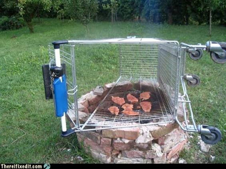 "20 Hilarious Ways Men Can Fix Anything - ""We need to grill some steaks? I can fix that!"""