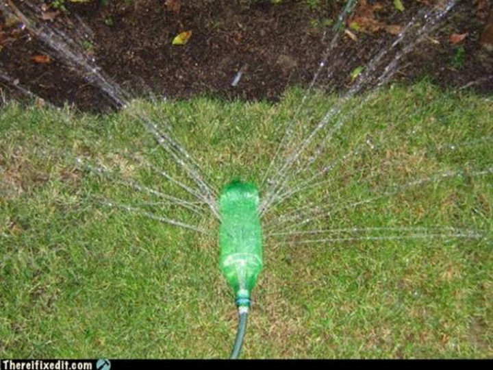 "20 Hilarious Ways Men Can Fix Anything - ""We need to buy a new sprinkler? I can fix that for free!"""