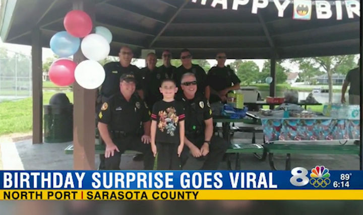 20 Photos Will Restore Your Faith In Humanity - When no one showed up to his birthday party, police officers helped give this boy with autism his best birthday ever.