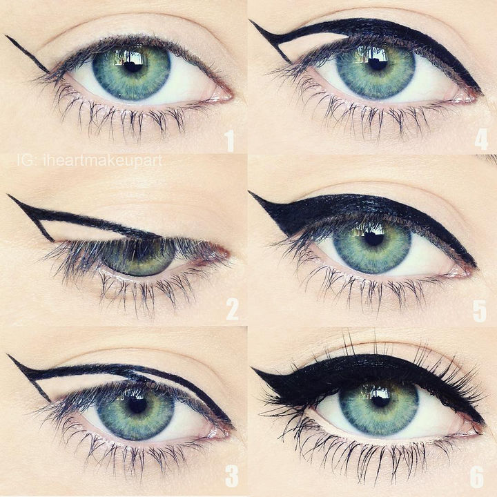 22 Kickass Life Hacks for Girls - Easily create cat eyes.
