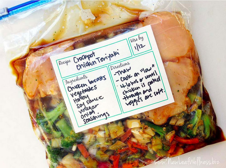 26 Crock Pot Dump Meals - Crockpot chicken teriyaki.