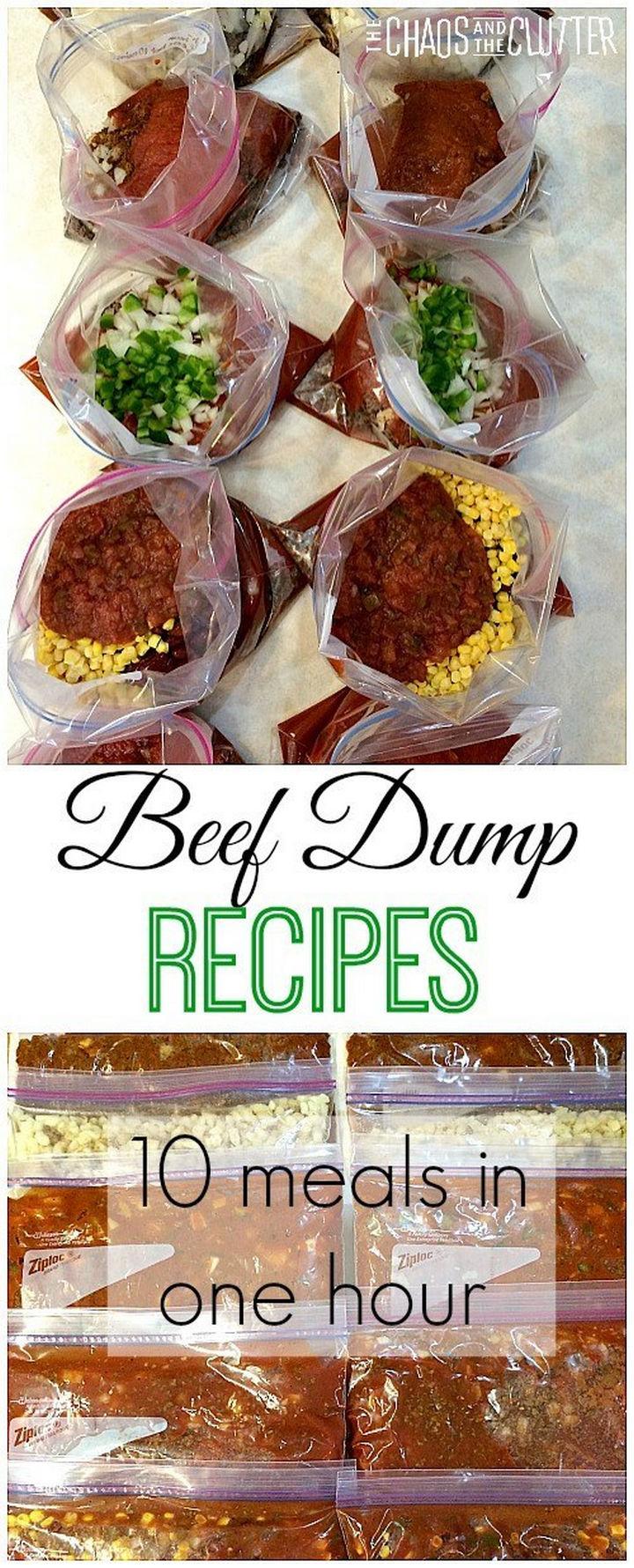 26 Crock Pot Dump Meals - Beef dump meals.