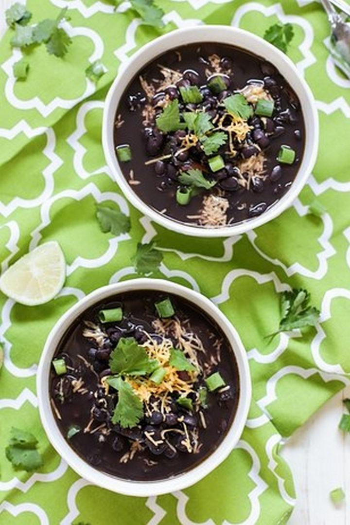 26 Crock Pot Dump Meals - 7-Ingredient Crock-Potblack bean soup.