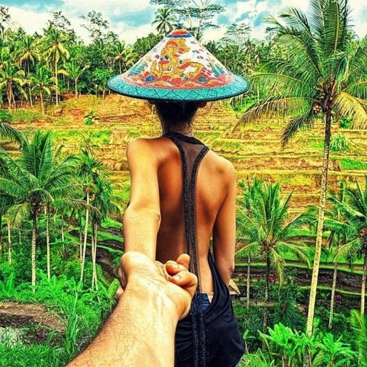 Follow Me To Rice Terrace, Bali.
