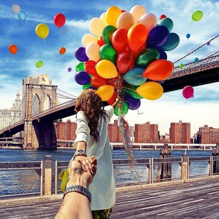 Follow Me To The Brooklyn Bridge, New York.