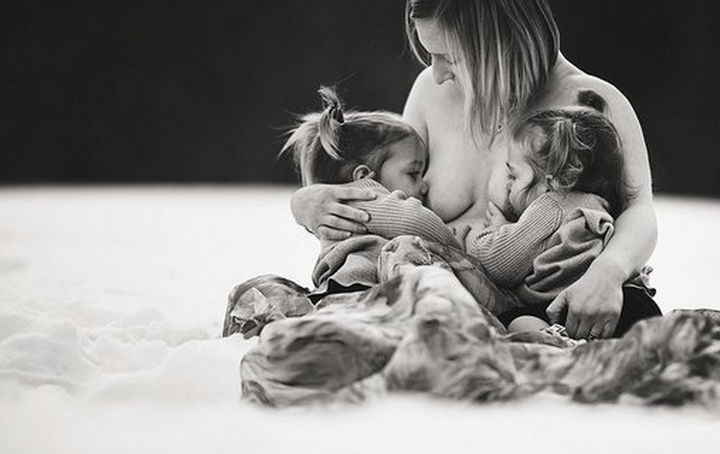 Mothers are nourishing their children and in instances of extended breastfeeding, toddlers know when it is time to wean off breastfeeding.