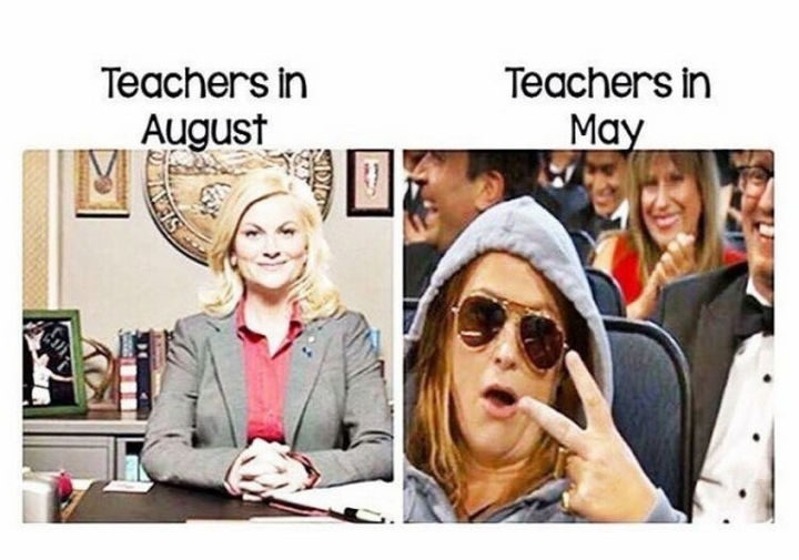 31 Hilarious Back To School Memes - Before and after.