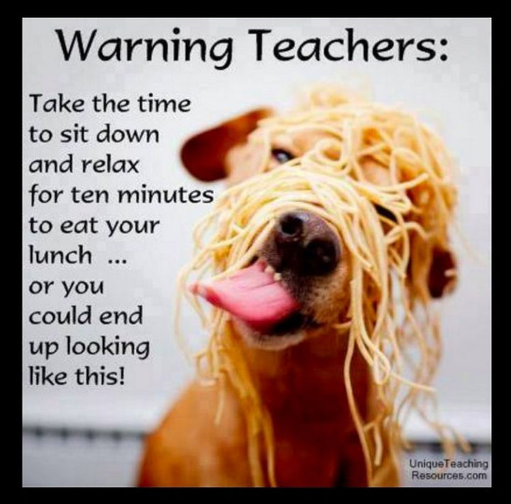 67 Hilarious Teacher Memes - Thanks for the warning.