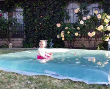Create This Inexpensive DIY Summer Water Paradise for Kids in Less Than 30 Minutes!