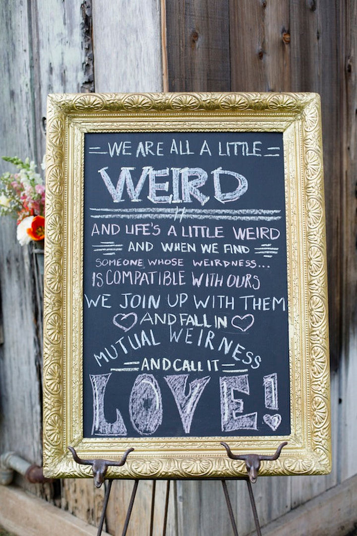 "18 Wedding Signs That Are So Perfect - A beautiful wedding with a side of ""weird."""