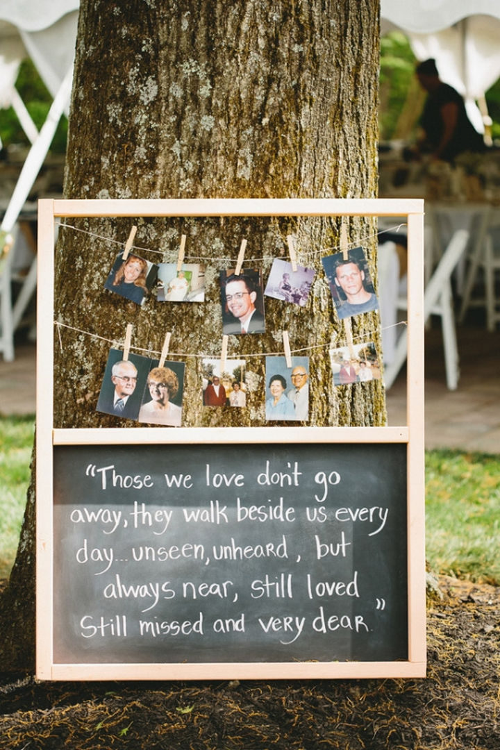 18 Wedding Signs That Are So Perfect - A great tribute to loved ones who are at your wedding in spirit.