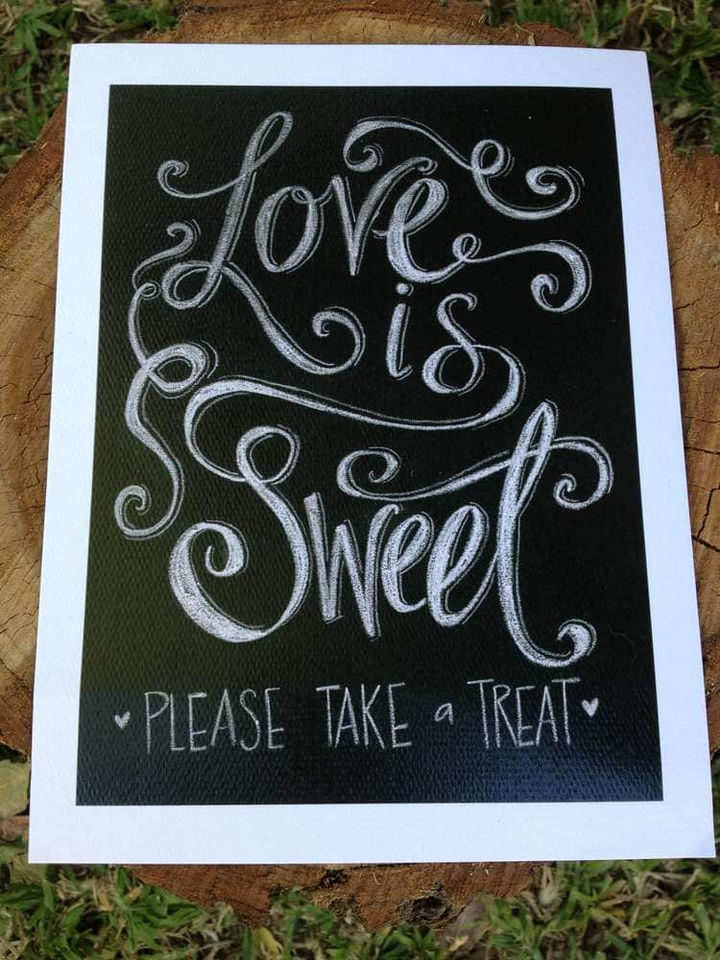 18 Wedding Signs That Are So Perfect - Love is sweet.