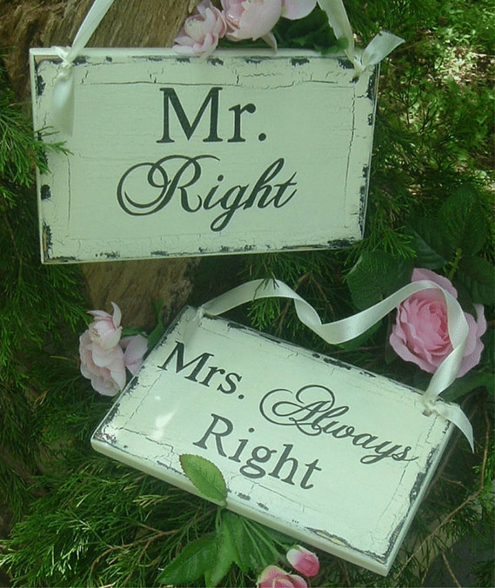 18 Wedding Signs That Are So Perfect - Happy wife, happy life.