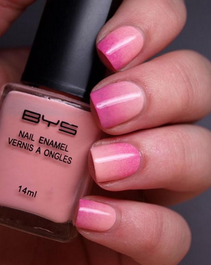 Fabulous ombré nail art.