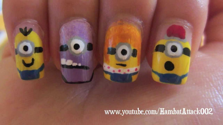 19 Minion Nails - You may have seen minion nails but not like this!