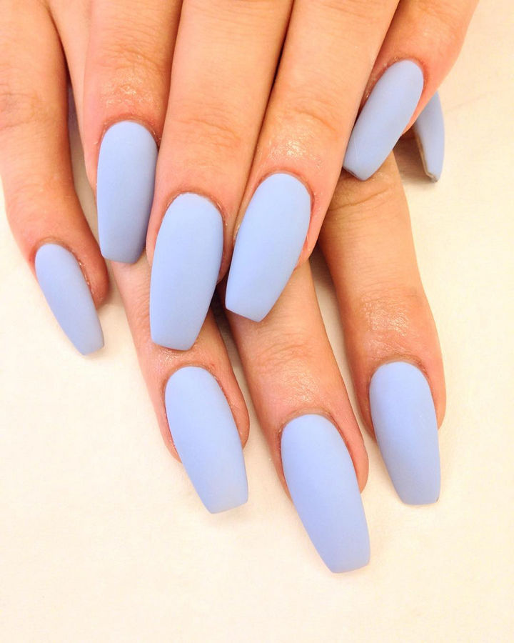 Perfect Baby Blue Acrylic Nails Ornament