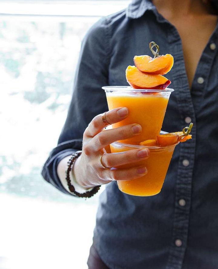 23 Wine Slushies - Peach wine slushies recipe.