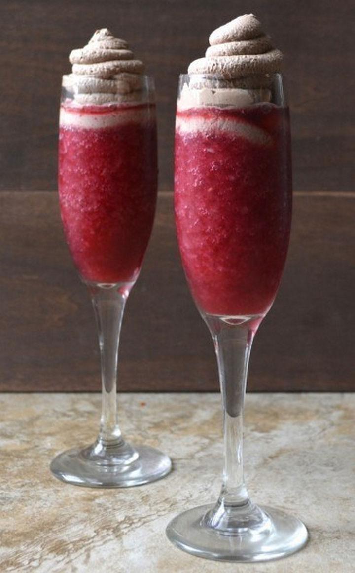 23 Wine Slushies - Raspberry red wine slushie recipe.