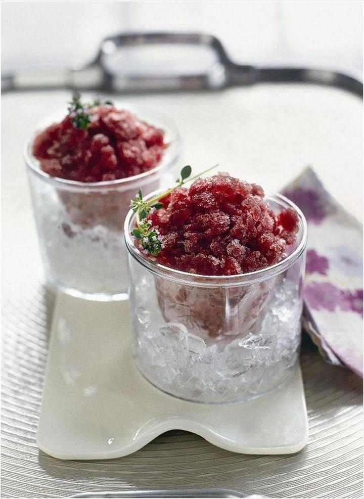 23 Wine Slushies - Red wine and orange granita recipe.